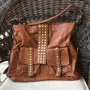 Melie Bianco Brown Handbag